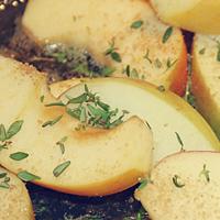 Schweinefilet mit Äpfeln in Calvados-Sauce