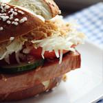 Leberkäs-Burger