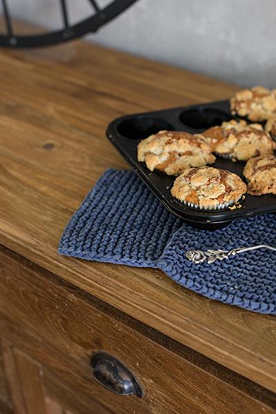 Rezept Pfirsich Muffins mit Streuseln