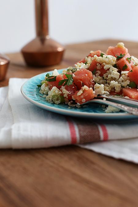 Rezept Wassermelonen-Quinoa-Salat