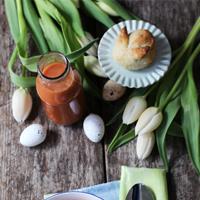 Osterrezept: Hasenbrötchen und Tomatensuppe fü