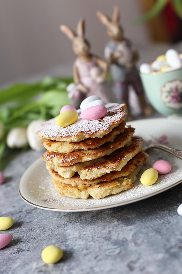 Osterrezept gesunde Pancakes mit Mango