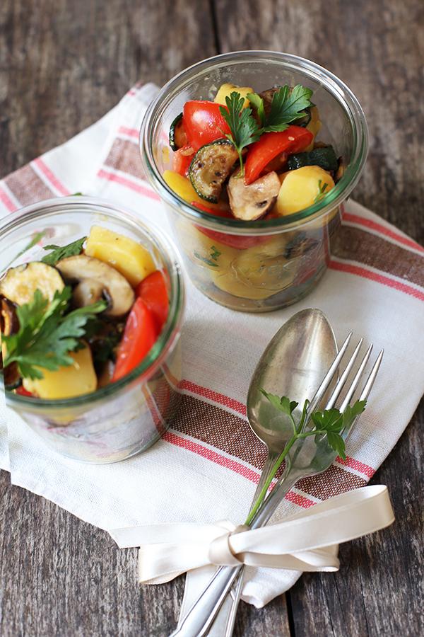 Rezept Kartoffelsalat mit gegrilltem Gemüse