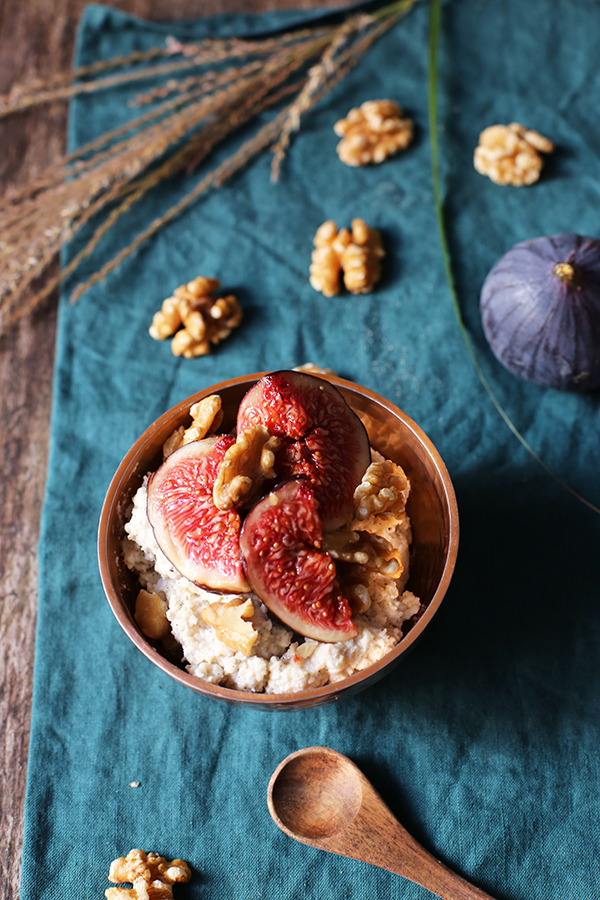 Rezept Zimt-Porridge mit Feigen und Walnüssen