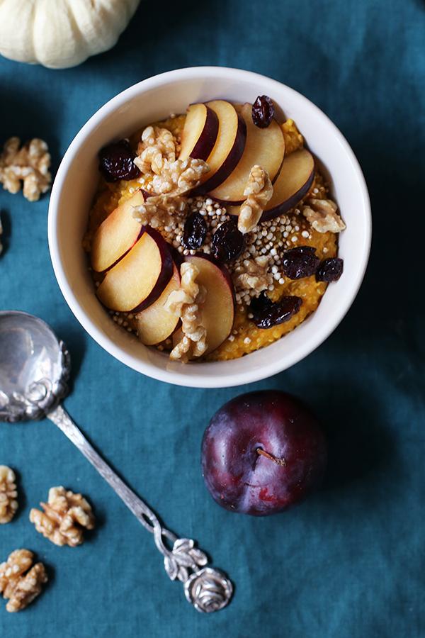 Rezept Quinoa-Frühstück mit Kürbis