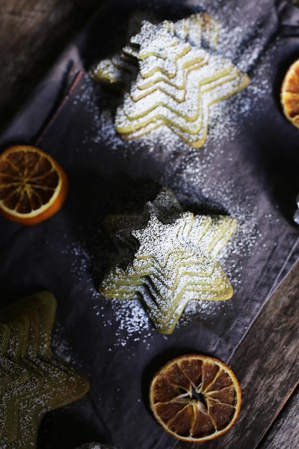 Weihnachtsplätzchen Matcha-Tannen